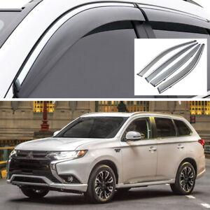 4Pcs Car Window Visor Vent Shade Deflector for Mitsubishi Outlander 2014-2020