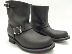 $298 FRYE WOMEN'S ENGINEER 8R LEATHER BOOTS BLACK 9M MADE IN USA