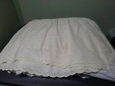 King Size Ivory Eyelet Skirt 13.5 Drop