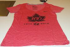Canada 2015 World Juniors S Hockey IIHF 100th Year Ladies Women Red T Shirt