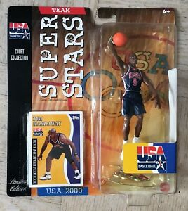 NEW 2000 Mattel NBA Super Stars Tim Hardaway Action Figure USA Dream Team 2000