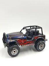 Car Diecast Matchbox Jeep 4X4 Flames