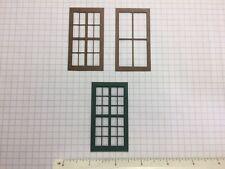 "O Scale Laser Cut Warehouse Windows (10 Ct. Lot) 2-Piece 1-1/2"" x 2-3/4"" (W1-01)"