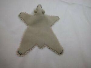 "World of Miniature Bear 5""x4"" Plush Rug Beige Lt Tan #669BG CLOSING"