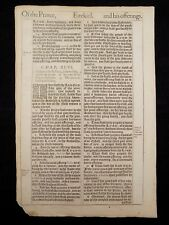 1611 KING JAMES BIBLE LEAF PAGE * BOOK OF EZEKIEL 45:2-46:17 * OF THE PRINCE*VGC