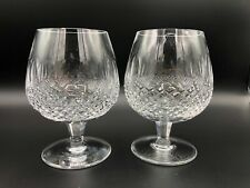 "Pair of Waterford Crystal Colleen Brandy Glasses 12 oz, 5 1/4"" Tall, 2 1/2"" Dia"