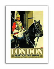 ENGLAND HEART EMPIRE LONDON Poster Travel Canvas art Prints