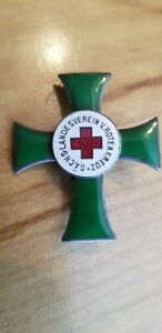 Imperial Germany Saxony Red Cross Merit Decoration Pin Back- Gesch