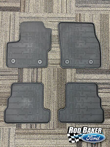 15 thru 17 Lincoln MKC OEM Factory Black Rubber All Weather Floor Mat Set 4-pc