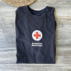 Vintage American Red Cross Faded Black Shirt size XL Adult Unisex
