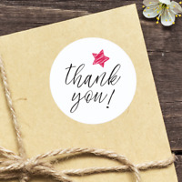 THANK YOU STICKERS - White Envelope Seals Round 25/38/63mm Wedding Favor labels