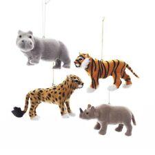 Furry Jungle Animals Ornament