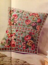 (F) Vintage Rose Flower Cushion Cover Cross Stitch Chart
