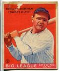Babe Ruth New York Yankees 1933 Goudey Card No. 149