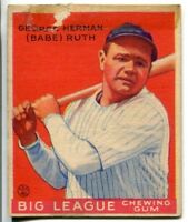 Babe Ruth New York Yankees 1933 Goudey Card No. 149