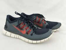 Nike Free 5.0 Armory Navy Challenge Red Size 10.5 579959-460