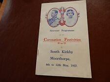 SOUTH KIRKBY AND MOORHOPE  CORONATION SOUVENIR 1937  VGC