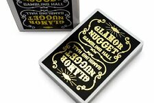 GLAMOR NUGGET GOLD LIMITED ED. DECK PLAYING CARDS RARE POKER MAGIC TRICKS GAMES