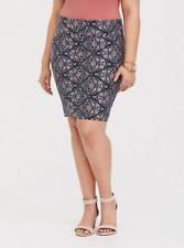 Torrid Floral Fold Over Skirt Size 0 NWOT
