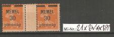 Memelgebiet Mi-Nr.: 21 x ZW sauber postfrisches Stegpaar  gepr. Dr.Petersen.BPP