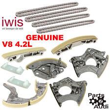 OEM Engine Timing Chain Tensioner Rails Chains Kit Fits Audi VW V8 4.2L