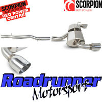 """Scorpion Golf R32 MK4 Exhaust System Cat Back Non Resonated Louder 4"""" T SVWS040"""