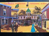 Vintage Postcard>1967>Centennial Exposition>Fairbanks>Alaska
