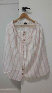 Etam French pink / white skirt - Size 16