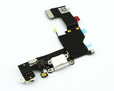DOCK CONNECTOR iPhone 5S WEISS Lightning Audio Jack Flex Cable Buchse NEU & OVP