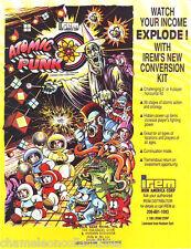 ATOMIC PUNK By IREM 1991 ORIGINAL NOS VIDEO ARCADE GAME MACHINE FLYER BROCHURE