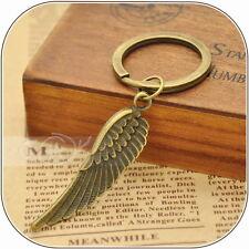 Angel's Wing Vintage Style Metal Bronze Keychain Keyring Charm VKC0036