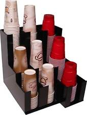 Coffee & Soda Cup lid Holder Dispenser and Organize caddy coffee counter display