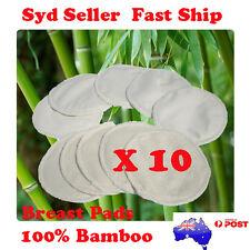 10 x Bamboo Reusable Breast Pads Nursing Waterproof Organic Plain Washable Pad