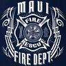 Maui Fire Department T-shirt Tribal M L XL 2XL 3XL 4XL - Short/Long Sleeve