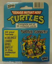 TEENAGE MUTANT NINJA TURTLE HERO FACTORY CARD BOX SET TOPPS *NEW* CARTOON MOVIE