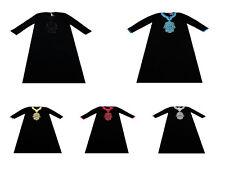 Ladies Maxi Dress Kaftan Foil Print Women Muslim Holiday Abaya Islamic Top
