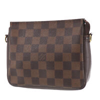 LOUIS VUITTON Truth Makeup Hand Bag Damier Brown N51982 France Authentic #UU250