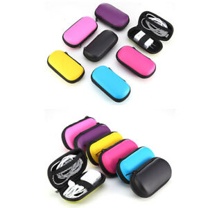 Portable Cable Earbuds Hard Storage Case,Carrying Bag for iPhone Samsung HTC