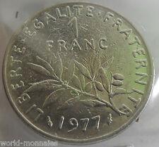 1 franc semeuse 1977 : TB : pièce de monnaie française