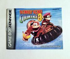 Donkey Kong Country 3 - Manual Only - (Nintendo Game Boy Advance, 2005)