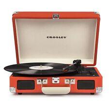 Crosley Cruiser Deluxe Briefcase Style Three Speed Vinyl Turntable Orange