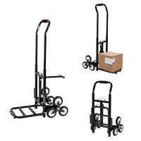 Portable Mini Folding Luggage Cart Shopping Cart Dolly Hand Truck Push Black