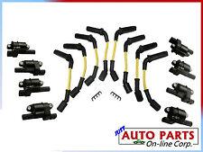 8 SPARK PLUG WIRES + 8 IGNITION COILS TAHOE SUBURBAN 2500 07-08 V8 4.8 5.3 6.0L