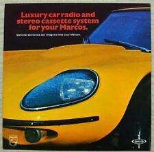 MARCOS PHILIPS CAR RADIO & CASSETTE SYSTEM Sales Leaflet c1970 RN495 & N2602
