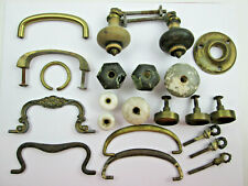 Vintage Drawer Handles Knobs Pulls Lot Metal Glass Ceramic Wood - All Used