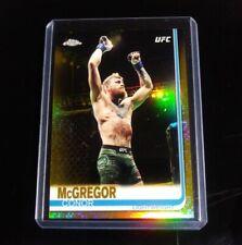 Conor McGregor UFC 2019 Topps Chrome REFRACTOR Conor Mcgregor GOLD SSP NEW