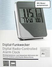 Digitaler Funkwecker mit Bewegungssensor Snooze Funktion und Beleuchtung