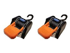 2 x Lock 'n Load Self Ratcheting Motorcycle Cargo Straps (1 Pair) Boat