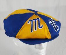 Vtg Marquette Warriors Newsboy Snapback Cap Hat Blue Gold Script Letters Eagles
