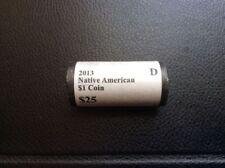 2013 D Sacagawea Native American Dollar BU Mint Roll-25 Coin Roll
